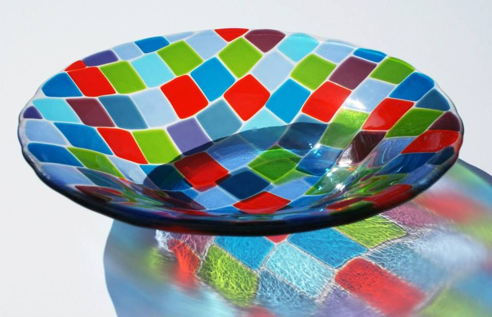 Wendy Helleman Glass ~ Mosaic Bowl - Gallery Salamanca