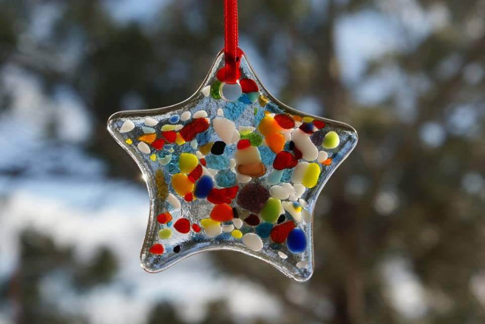 Wendy Helleman Glass ~ Star Ornament - Gallery Salamanca