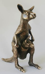 Bronze Figure ~ Kangaroo with Joey - Gallery Salamanca