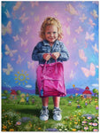 Zina Kurtschenko Painting ~ 'First Day at School - No Tears Just Butterflies' - Gallery Salamanca