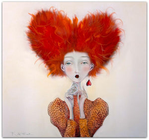 Kate Smith Painting ~ 'Queen of Hearts' - Gallery Salamanca Hobart Tasmania