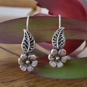 Lynda Salmon Earrings ~ Spring Flower - Gallery Salamanca