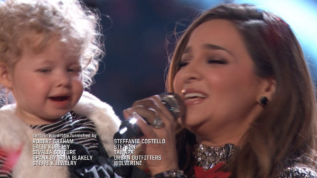 The Voice finalist, Alisan Porter, and rolling credits