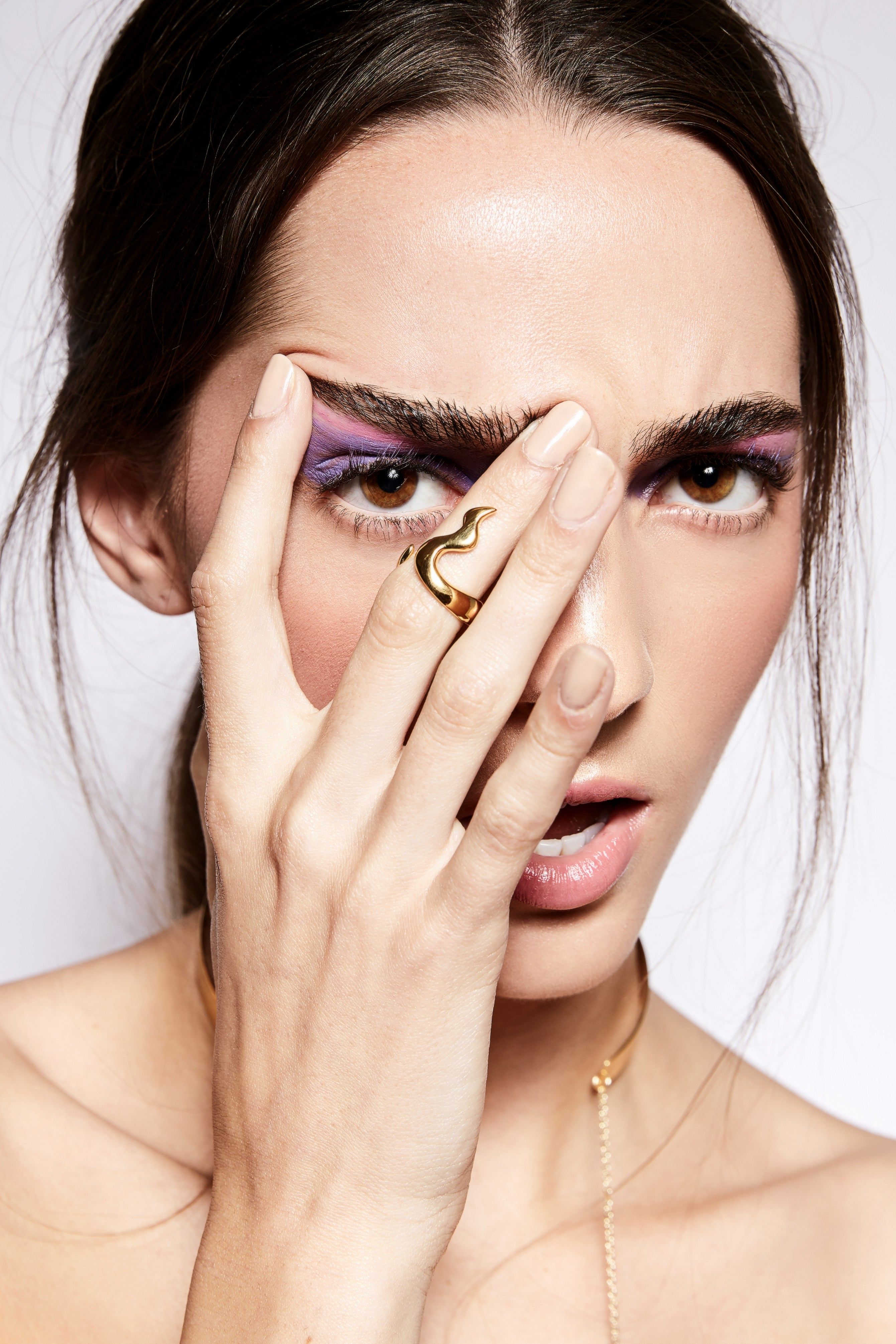 Model Anita Galler wears Steffi K Jewelry