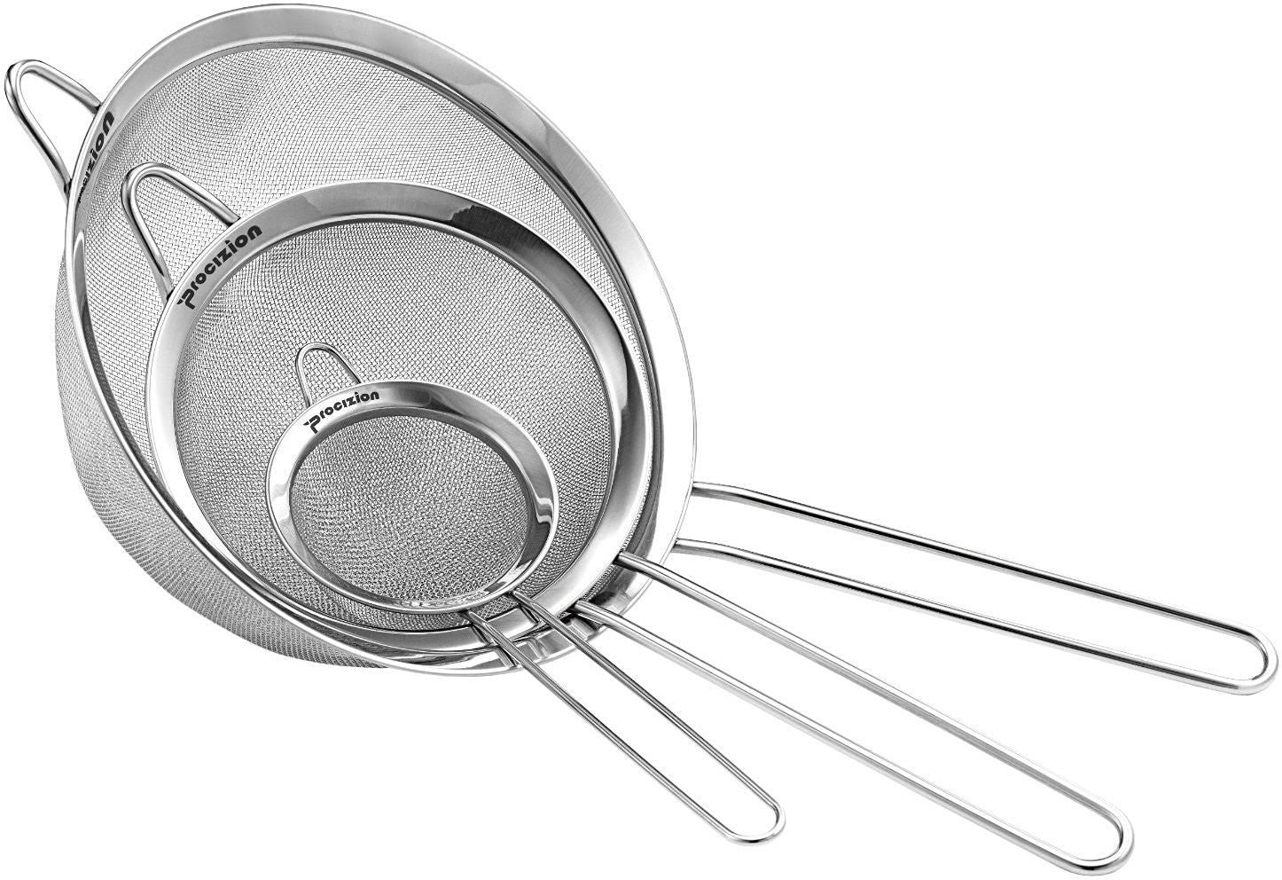 Stainless Steel Handle Kitchen Various Seive Fine Mesh Tea Strainer Sifter