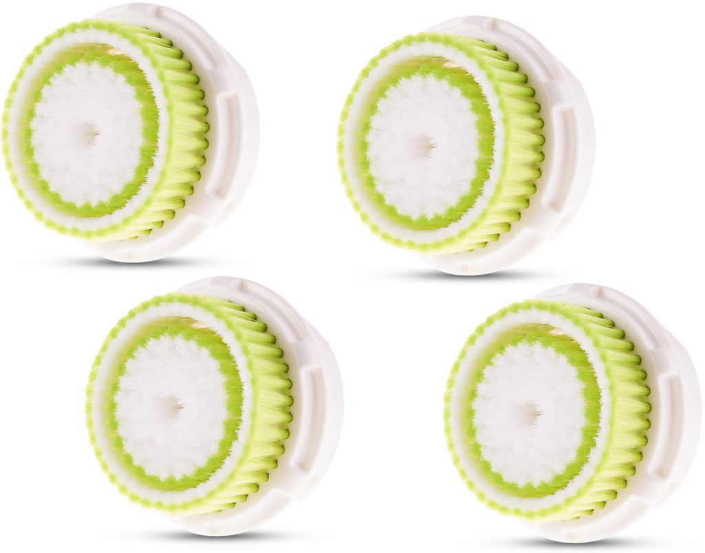 Compatible Clarisonic Replacement Brush Heads for Acne Prone Skin (4 Pack)