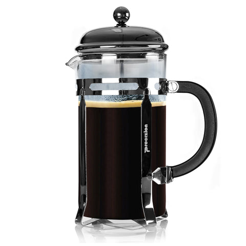 French Press Coffee Maker - 34 oz / 8 Cup (1 Liter) with 6 Bonus Filters