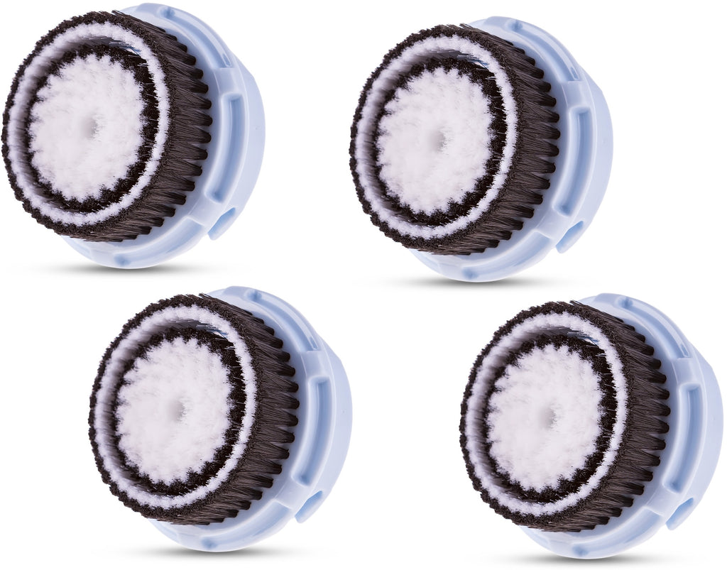 Compatible Clarisonic Replacement Brush Heads for Delicate Skin (4 Pack)