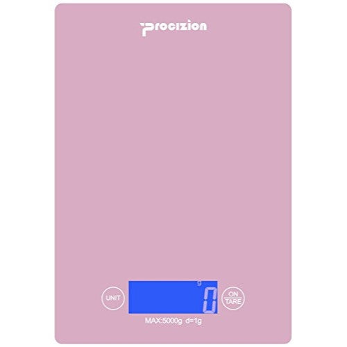 Digital Kitchen Food Scale For Precise Weighing, Measures Up To 11 Lb (Pink)