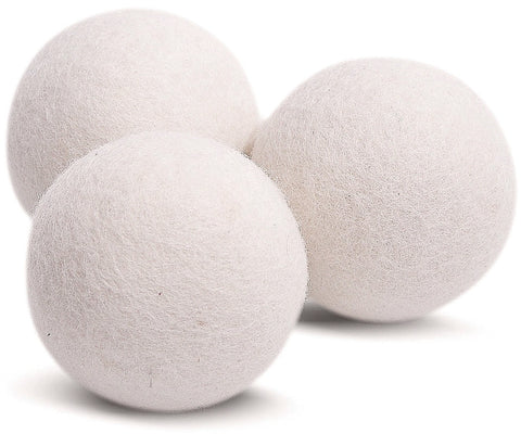 Wool Dryer Balls 3 Pack XL Made of 100% Premium, Organic Wool, Handmade, Non-Toxic, All Natural Eco-Friendly Reusable Fabric Softener