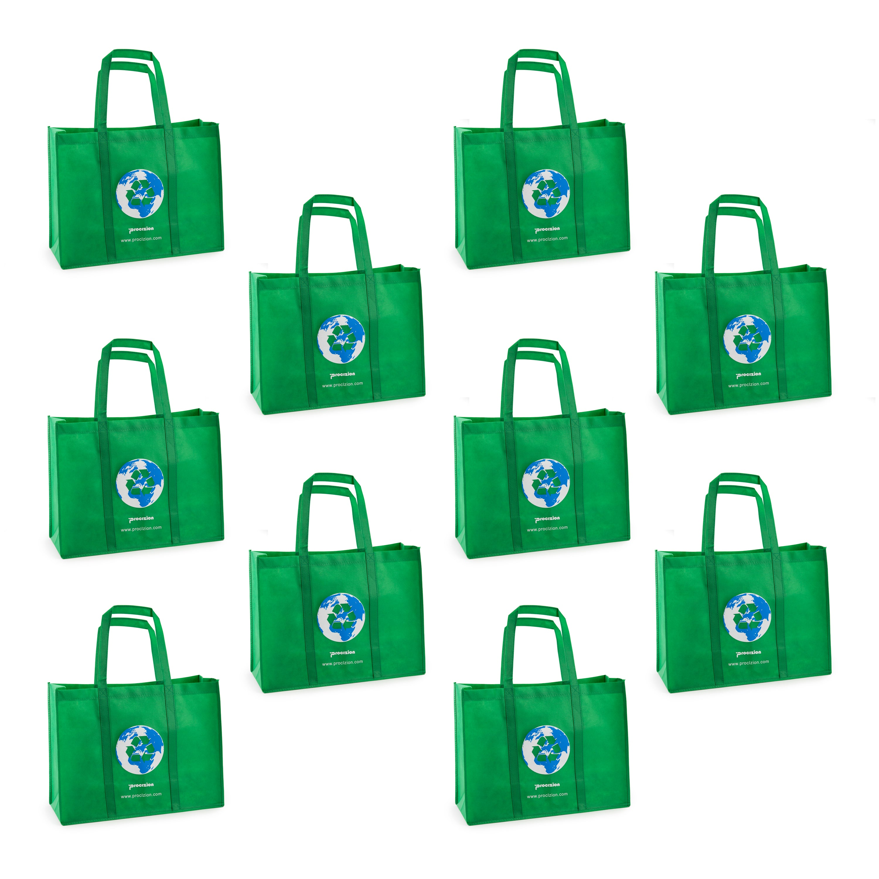 cda30f66e805 Reusable Grocery Tote Shopping Heavy Duty Bag with Reinforced Handles –  Procizion