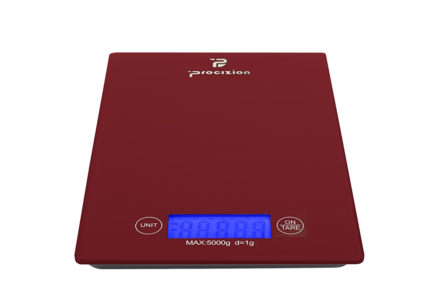 Digital Kitchen Food Scale for Precise Weighing, Measures up to 11 lb (Red)