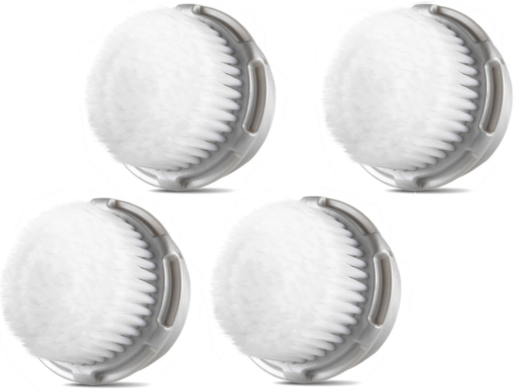 Compatible Clarisonic Cashmere Brush Heads for Full Facial Like Cleanse (4 Pack)