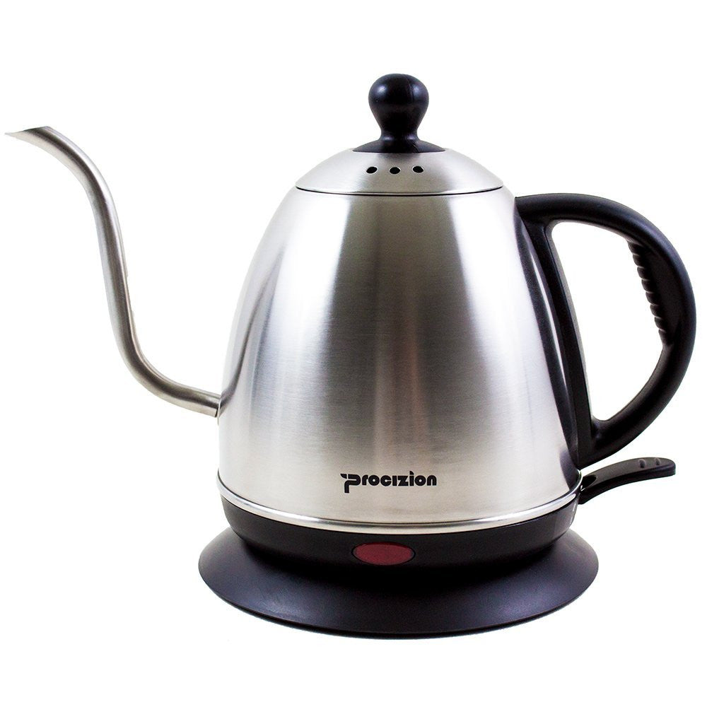 Electric Gooseneck Drip Kettle for Pour Over Coffee and Tea, Fully Stainless Steel Interior, 1 Liter