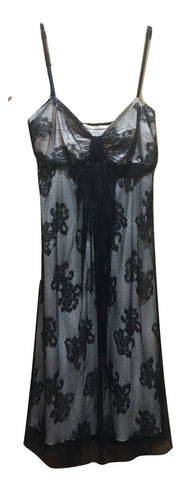 Black Lace/Beads Gown