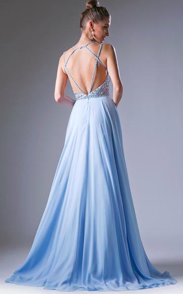 Cinderella Blue Beaded Gown