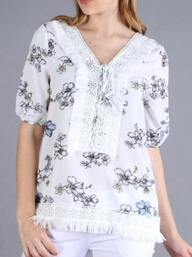 Available Floral Crepe Tunic