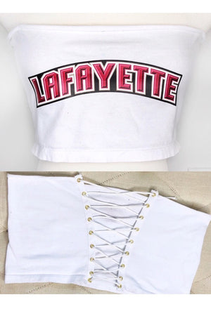 Custom College Lace Up T-Shirts