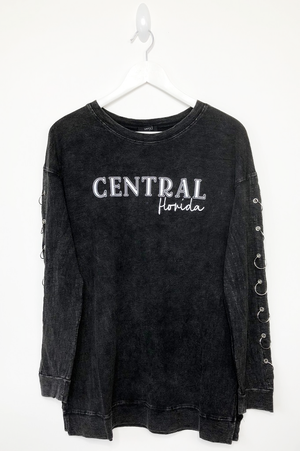 Custom College Long Sleeve Mineral Wash Top
