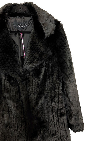 Black Faux Fur Coat