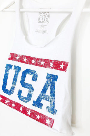USA Cropped Tank Top