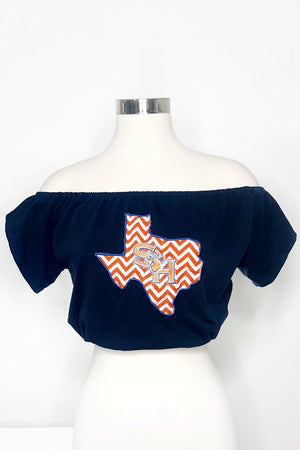 Sam Houston Off the Shoulder Crop Top