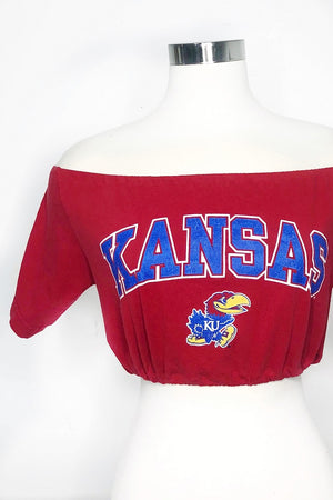 Kansas Off the Shoulder Crop Top
