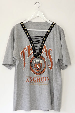 Texas Long Horns Lace Up Tshirt