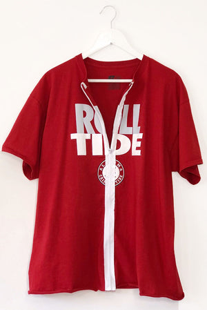 Alabama Roll Tide Zip Up T-Shirt