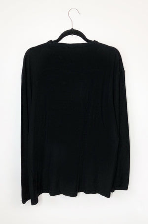 Honey Black Long Sleeve Oversized Sweater
