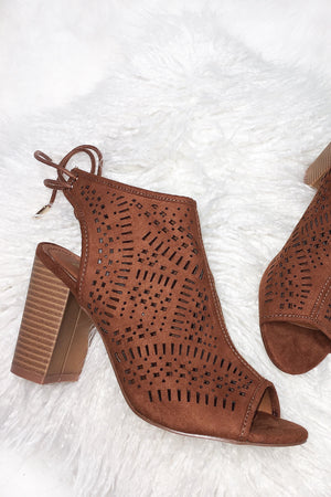 Wanderlust Dreamers Cut Out Booties: Tan