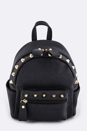 MINI BLACK STUD BACKPACK