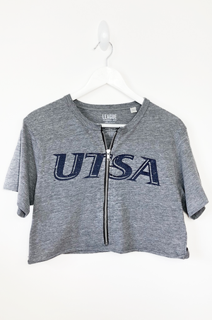 UTSA Zip Up Crop Top