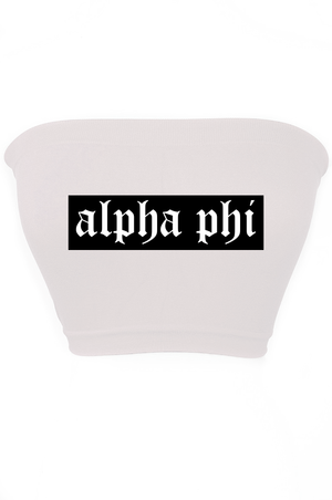 Custom Sorority Tube Top - Font #2 - Multiple Colors