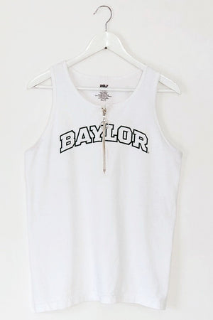 Baylor Zip Up Tank Top