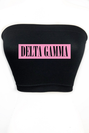 Custom Sorority Tube Top - Multiple Colors