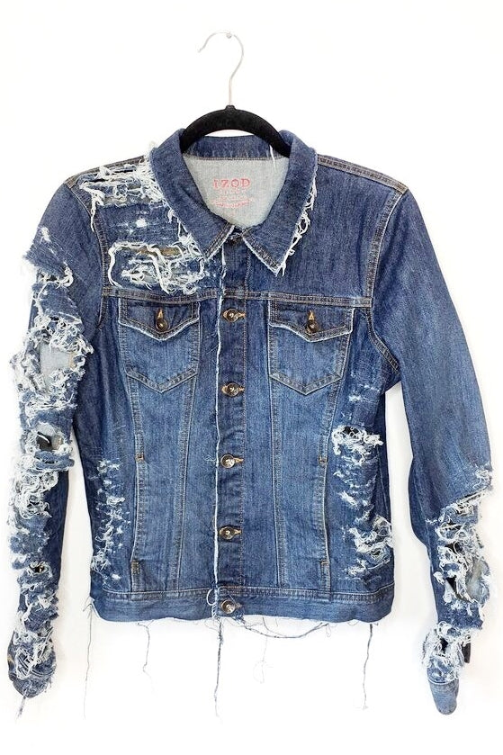 Distressed Vintage Denim Jacket