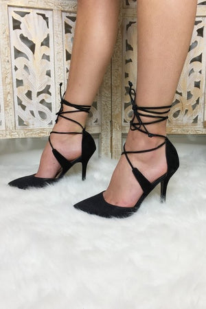 Strap on Tight Heels: Black