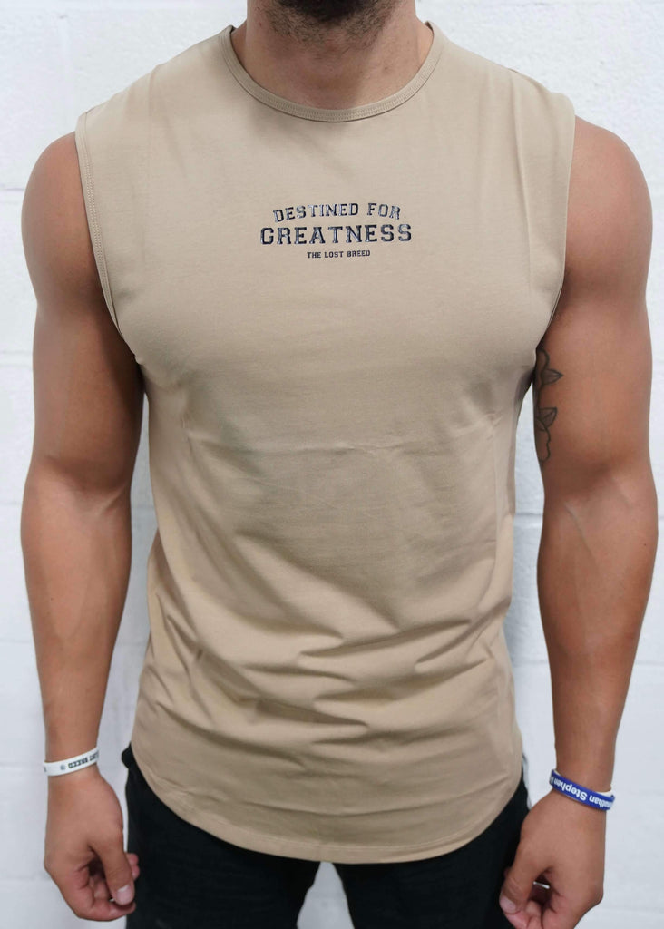 Destined For Greatness Cutoff (Tan) - The Lost Breed