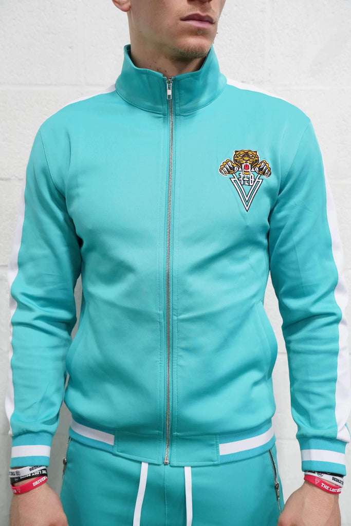 Tiger Track Jacket (Teal) - The Lost Breed