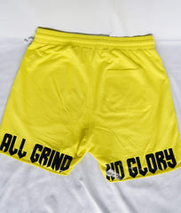 """AGNG"" Shorts (Yellow)"