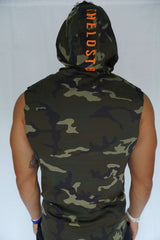 """Endangered Species"" Cutoff Hoodie (Camo)"