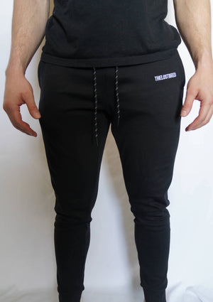"""Engraved"" Lightweight Joggers (Black)"