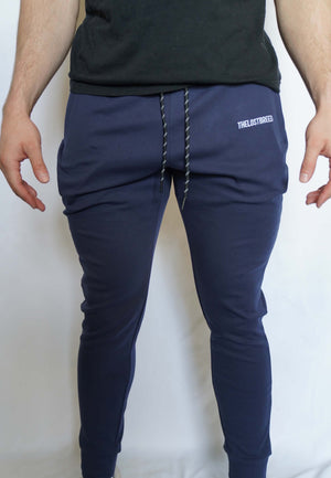 """Engraved"" Lightweight Joggers (Navy Blue)"