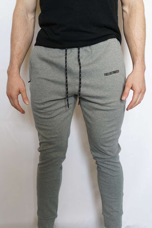 """Engraved"" Lightweight Joggers (Grey)"