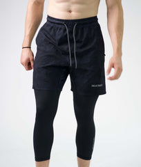 TLB Performance Shorts (Black Camo)