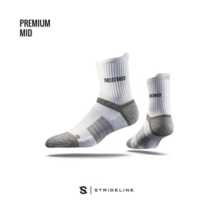 TLB X Strideline Mid Socks (White)