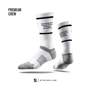 TLB X Strideline Crew Socks (White)