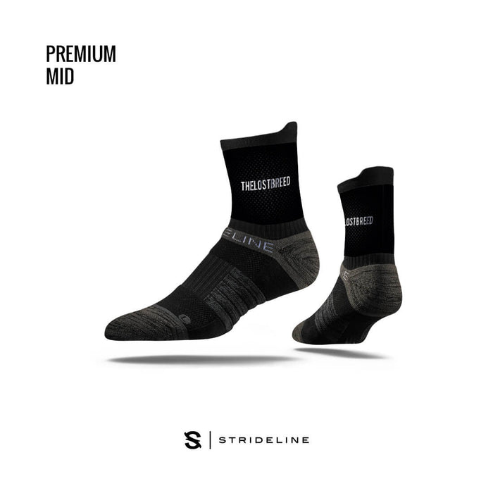 TLB X Strideline Mid Socks (Black)