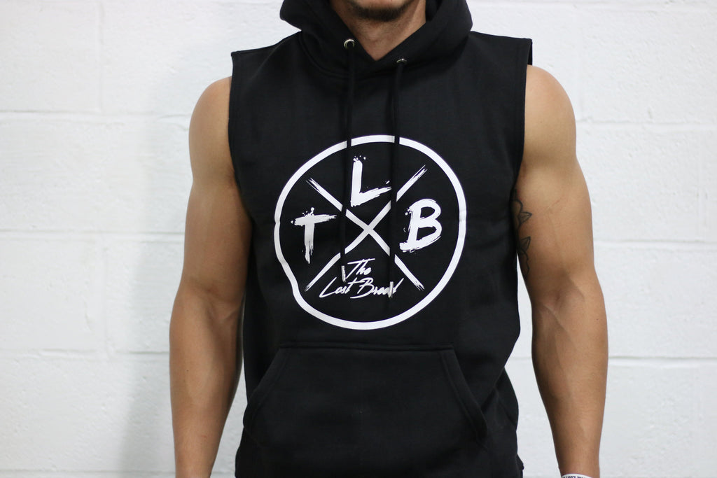 """WWNBO"" Cutoff Hoodie (Black) - The Lost Breed"